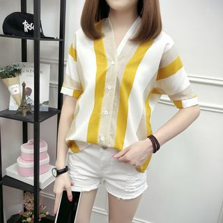 Short-Sleeve Striped Blouse from Ilda