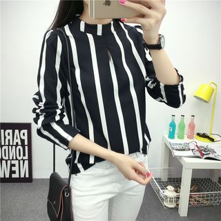 Striped Chiffon Blouse from Ilda