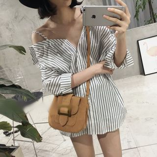 Striped Off-Shoulder Blouse from Ilda