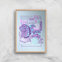 Ilustrata Japan Wave Giclee Art Print - A2 - Wooden Frame from Ilustrata