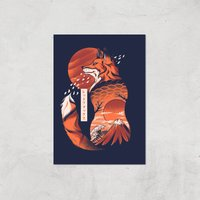 Ilustrata Japanese Fox Giclee Art Print - A2 - Print Only from Ilustrata
