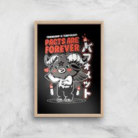 Ilustrata Pacts Are Forever Giclee Art Print - A2 - Wooden Frame from Ilustrata