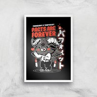 Ilustrata Pacts Are Forever Giclee Art Print - A3 - White Frame from Ilustrata