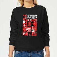 The Incredibles 2 Poster Women's Sweatshirt - Black - S - Black from Incredibles 2