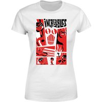 The Incredibles 2 Poster Women's T-Shirt - White - XL - White from Incredibles 2