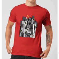 The Incredibles 2 Skyline Men's T-Shirt - Red - S - Red from Incredibles 2