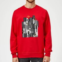 The Incredibles 2 Skyline Sweatshirt - Red - L - Red from Incredibles 2
