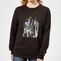 The Incredibles 2 Skyline Women's Sweatshirt - Black - M - Black from Incredibles 2