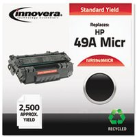 Remanufactured Q5949A(M) (49AM) MICR Toner, Black from Innovera