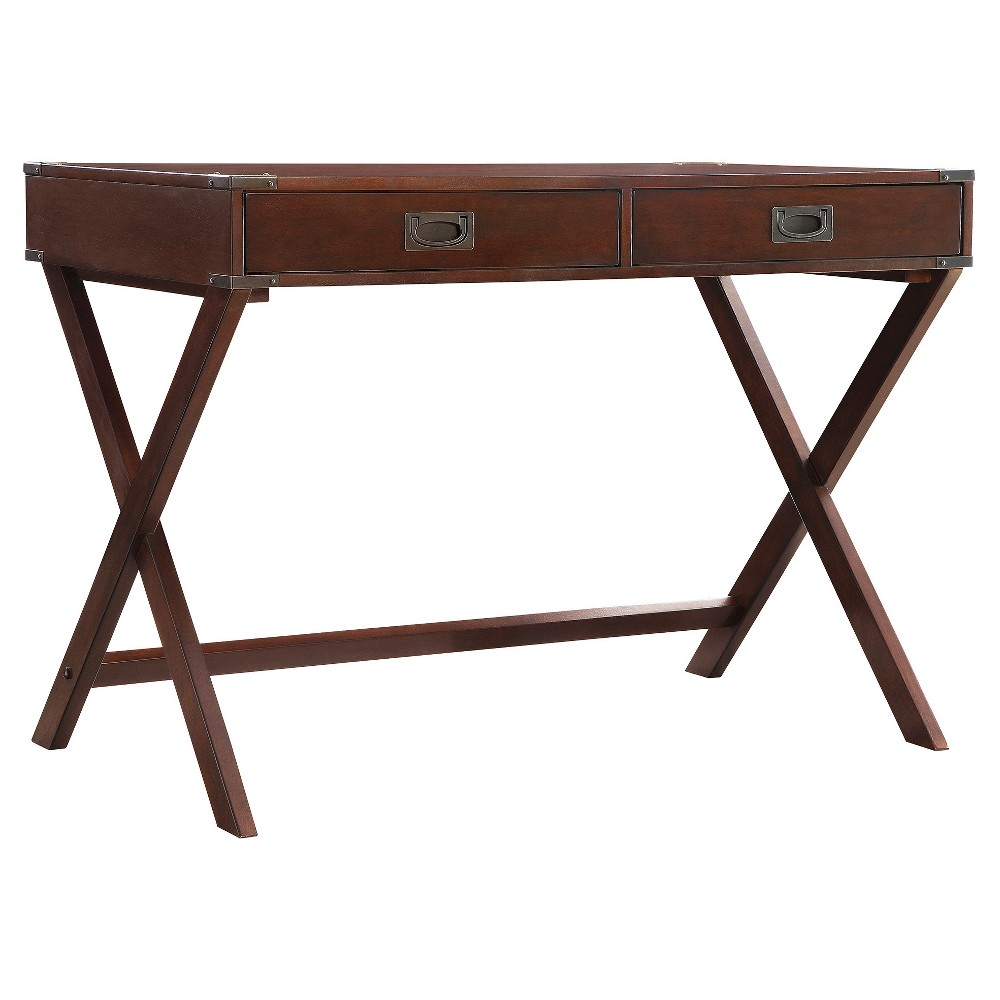 Kenton Wood Writing Desk with Drawers Espresso - Inspire Q from Inspire Q