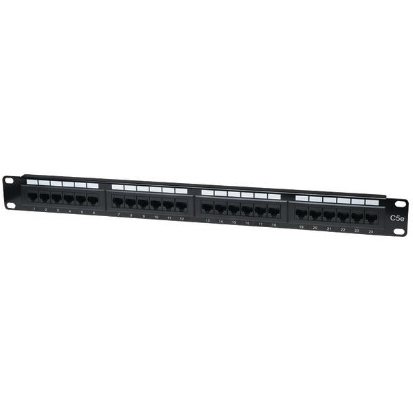 Intellinet Network Solutions 513555 CAT-5E UTP Patch Panel, 24 Port, 1U from Intellinet Network Solutions