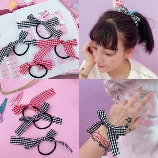 Plaid Bow Hair Tie from Intimo