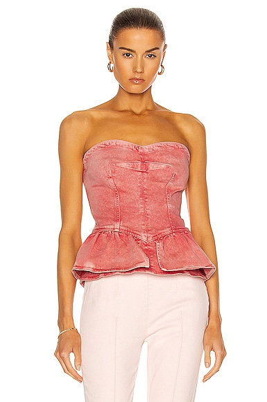 Isabel Marant Dolizina Top in Pink from Isabel Marant