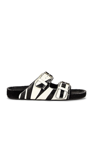 Isabel Marant Lennyo Sandal in Black from Isabel Marant