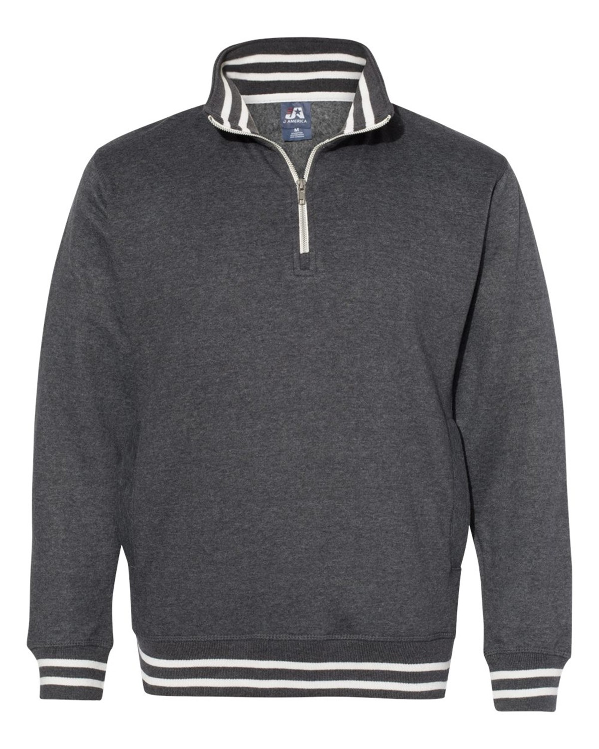 J America 8650 Men's Relay Fleece Quarter-Zip Sweatshirt - Black - S from J America