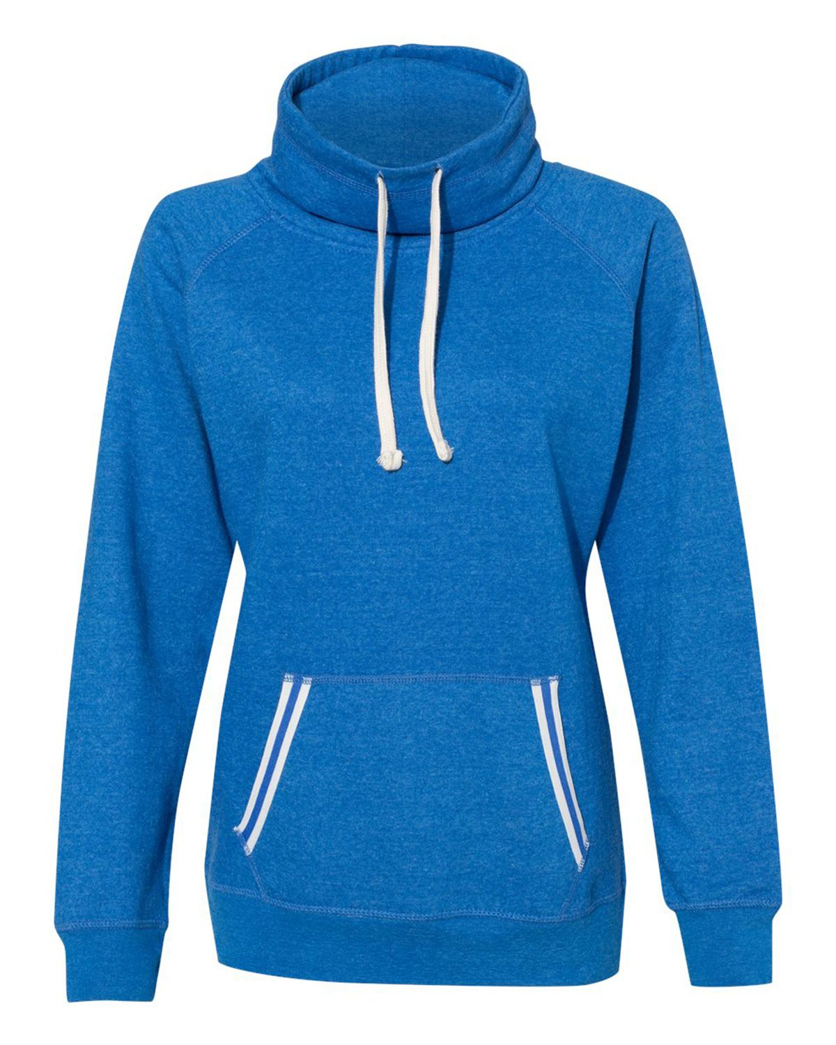 J America 8653 Women's Relay Cowl-Neck Sweatshirt - Royal - S from J America