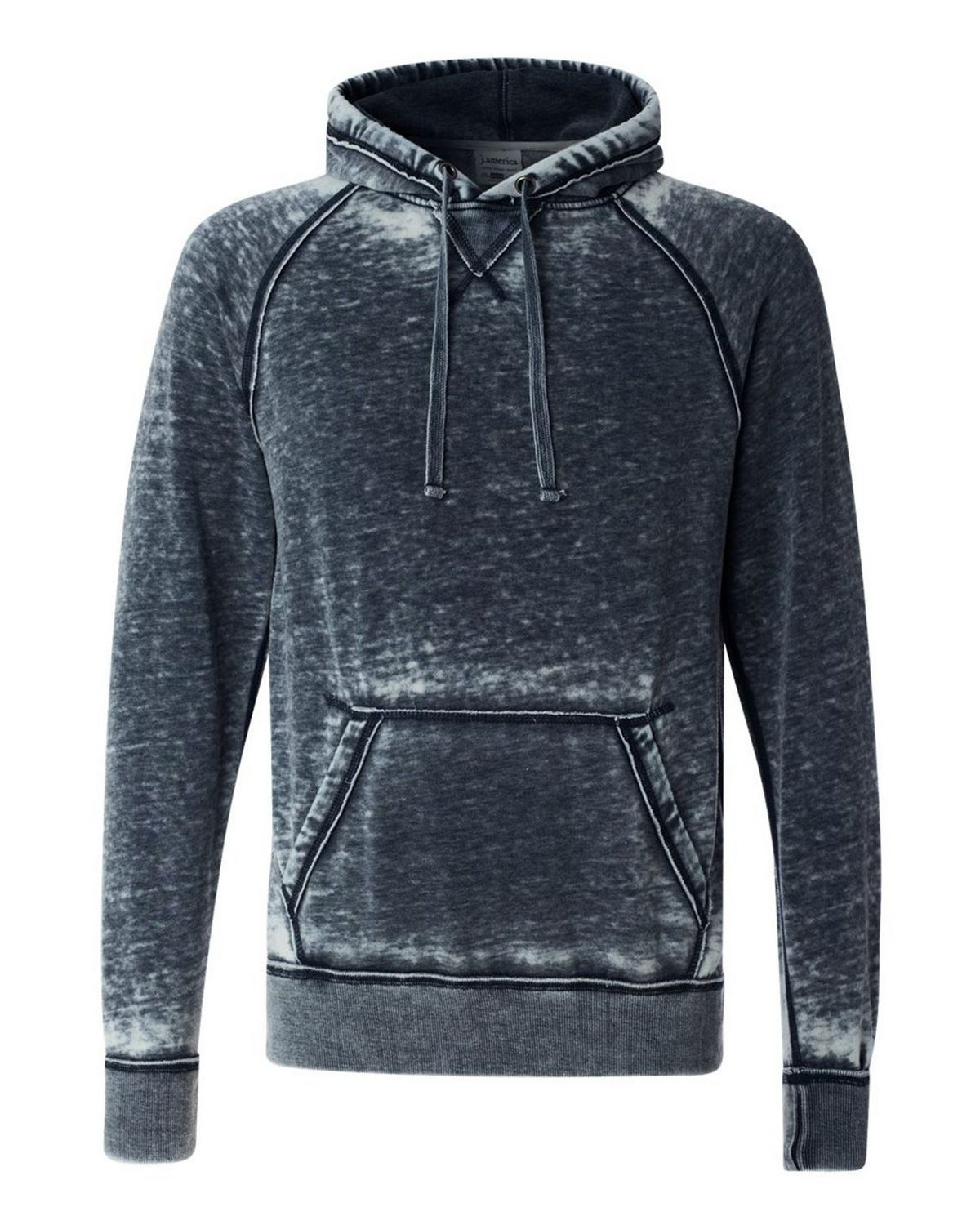 J America 8915 Men's Vintage Zen Fleece Hooded Pullover Sweatshirt - Vintage Navy - S from J America