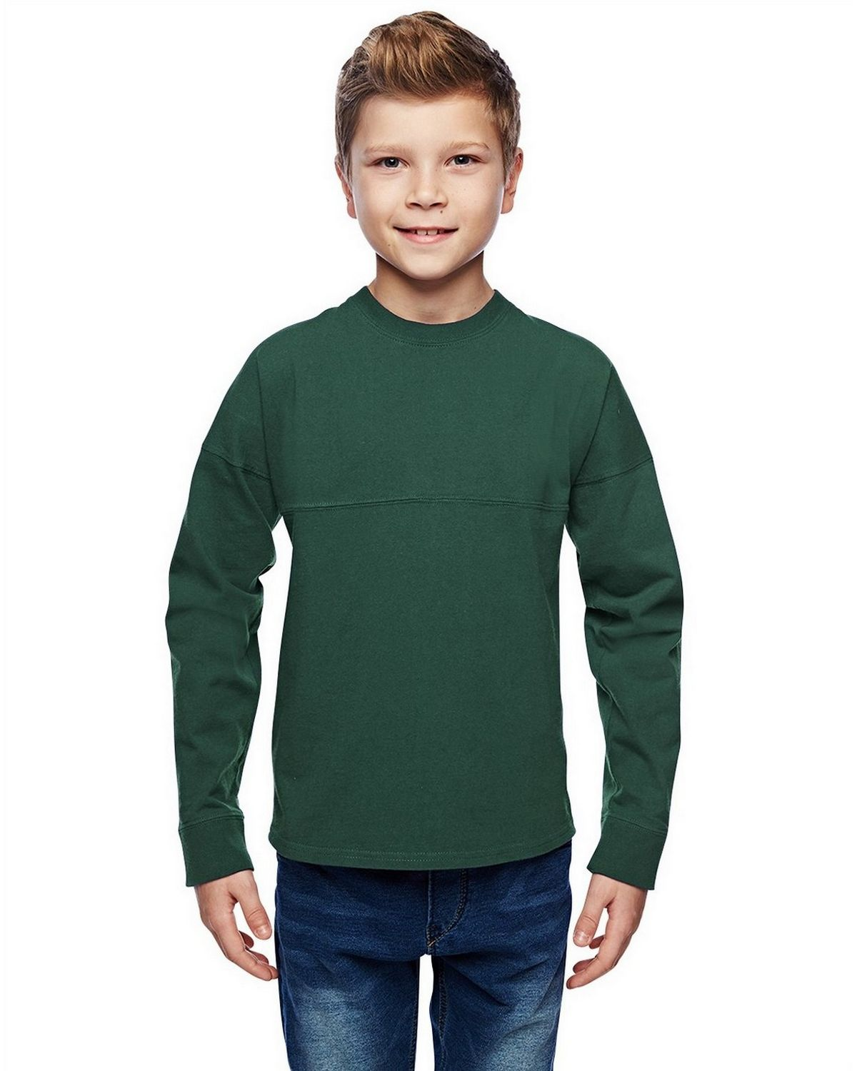 J America JA8219 Youth Game Day Jersey - Forest Green - S from J America