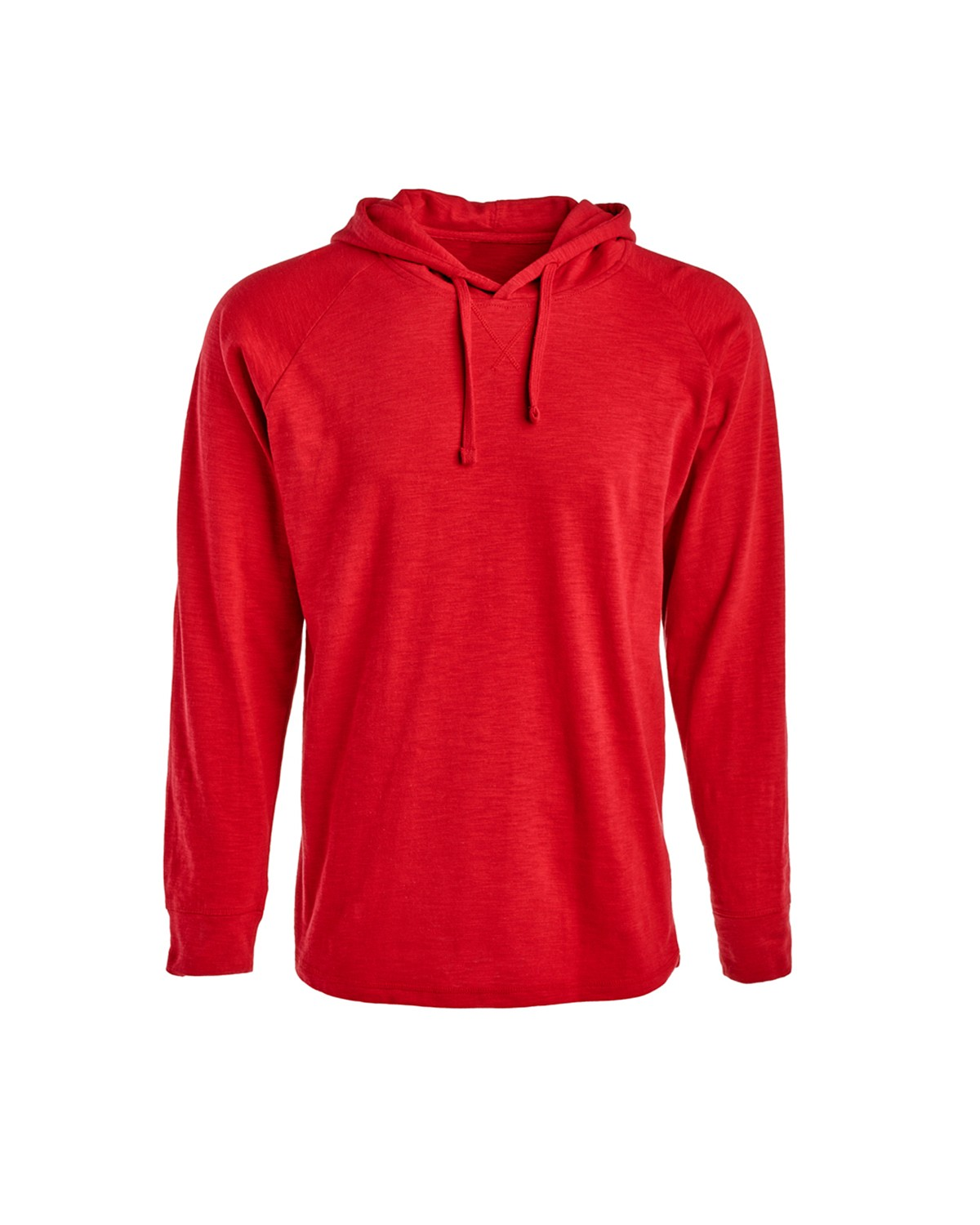 J America JA8245 Men's Vintage Slub Knit Pullover Hooded Sweatshirt - Simply Red - S from J America