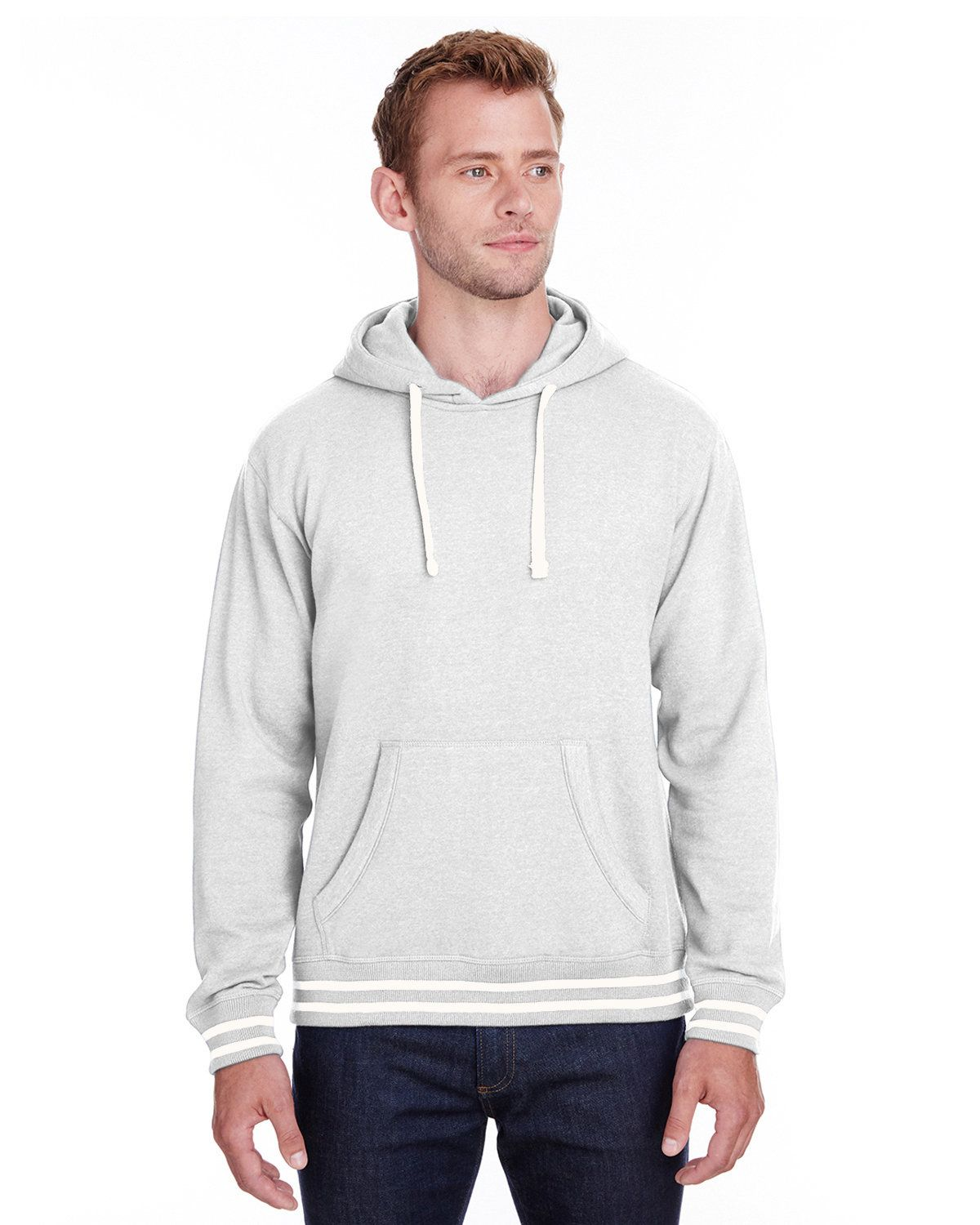 J America JA8649 Men's Relay Hooded Sweatshirt - Ash - S from J America