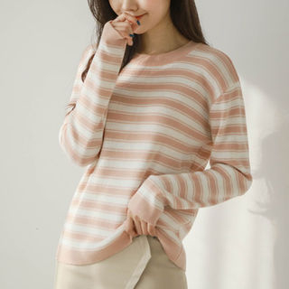 Striped Knit Top from JUSTONE