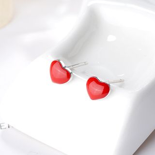 925 Sterling Silver Heart Ear Stud from JZ Concept