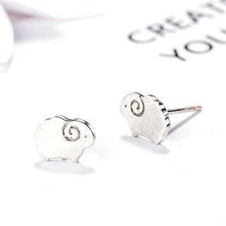 925 Sterling Silver Sheep Earring Silver - One Size from JZ Concept
