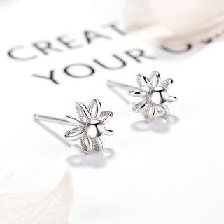 925 Sterling Silver Sunflower Stud Earrings 925 Silver - One Size from JZ Concept