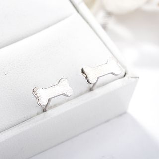 Bone Ear Stud 925 Silver - As Shown In Figure - One Size from JZ Concept