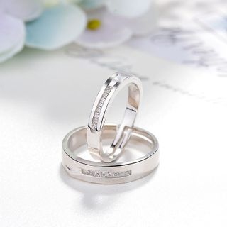 Couple Matching Rhinestone Ring from JZ Concept