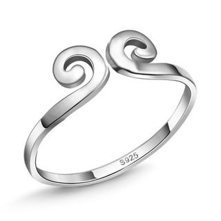 Couple Matching S925 Silver Open Ring from JZ Concept