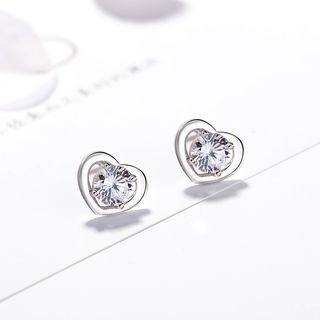 Rhinestone Heart Earring from JZ Concept