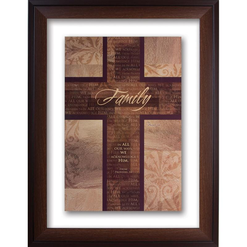 James Lawrence 2569 Family Double Glass Matted Framed Wall Art from James Lawrence
