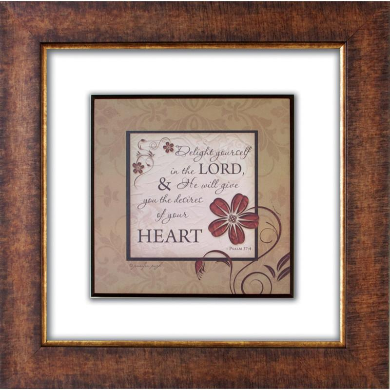 James Lawrence 2579 Delight Yourself Glass Matted Framed Plaque from James Lawrence