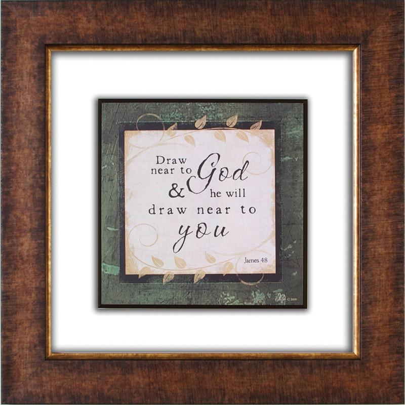 James Lawrence 2583 Draw Near to God Glass Matted Framed Plaque from James Lawrence