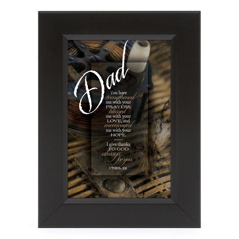 James Lawrence 7116 Dad-You Have Strengthened Me Shadow Box Framed Wall Art from James Lawrence