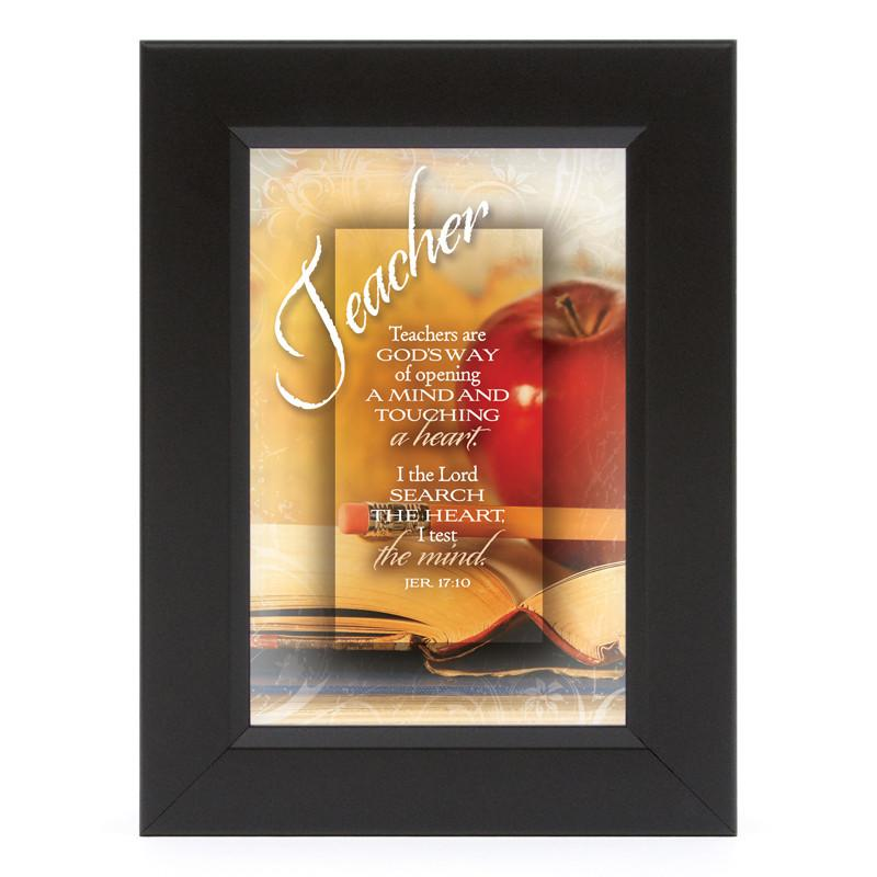 James Lawrence 7118 Teacher-I The Lord Shadow Box Framed Wall Art from James Lawrence