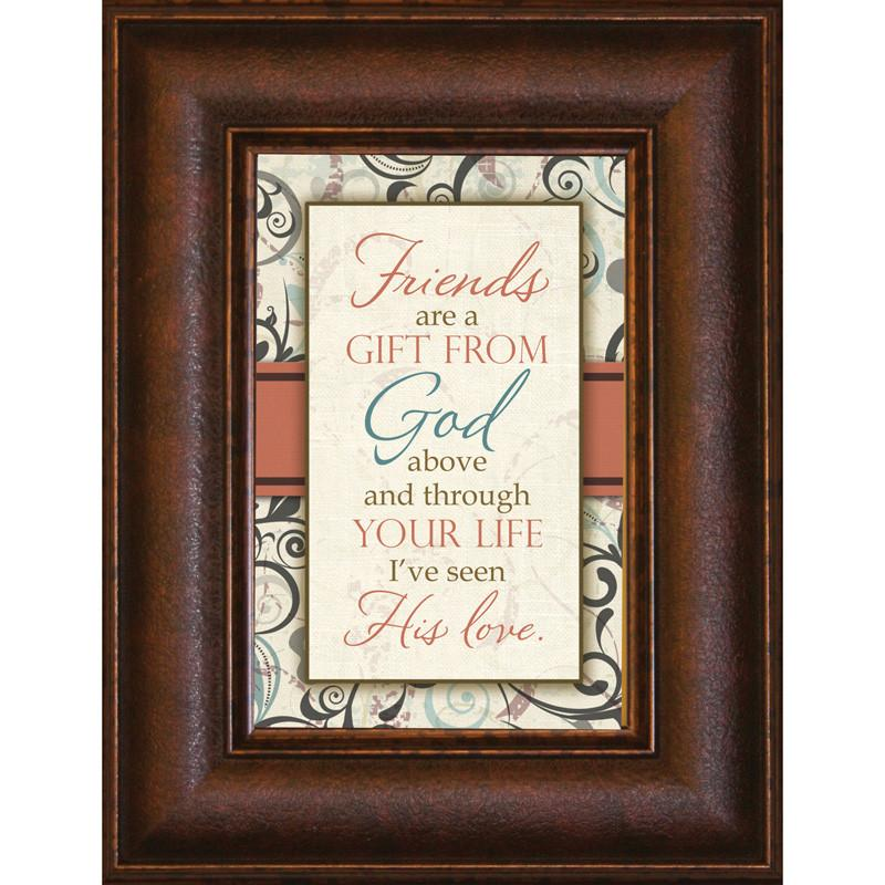 James Lawrence 8900 Friends Are A Gift Mini Framed Wall Art from James Lawrence