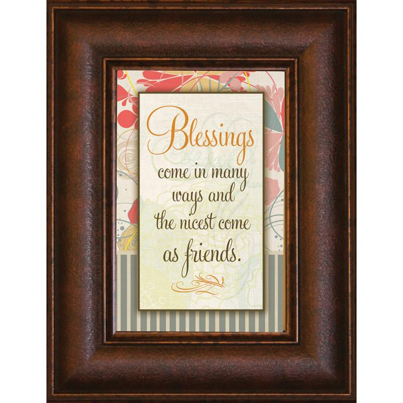 James Lawrence 8919 Blessings Come Mini Framed Wall Art from James Lawrence