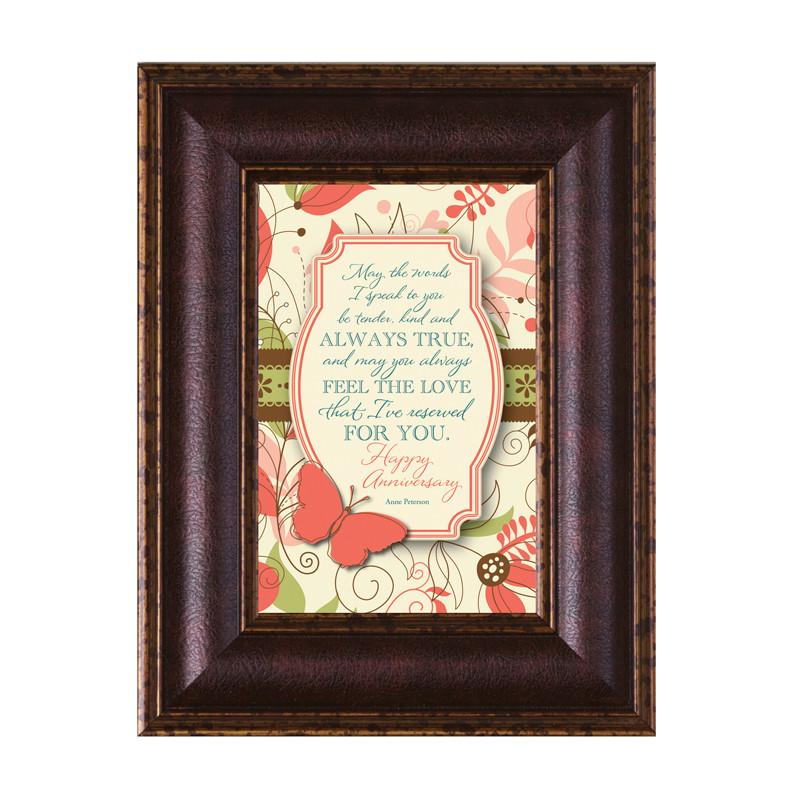James Lawrence 8941 Happy Anniversary Mini Framed Wall Art from James Lawrence
