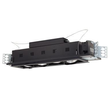 Jesco Lighting MGP30-4SB Four-Light Double Gimbal Linear Recessed Line Voltage Fixture from Jesco Lighting