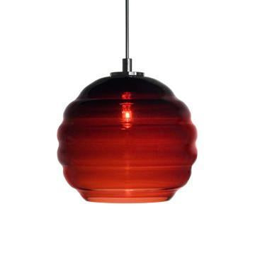 Jesco Lighting QAP753-WN/SN Quick adapt low voltage pendants-Beehave Large-Hand-blown from Jesco Lighting