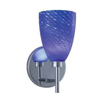 Jesco Lighting WS220-BU/SN Goblet Series 220 1-Light Wall Sconce, Blue/Satin from Jesco Lighting