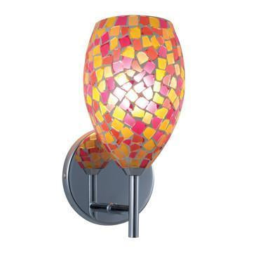 Jesco Lighting WS232-PKYW/SN Moz Series 232 1-Light Wall Sconce, Pink Yellow from Jesco Lighting