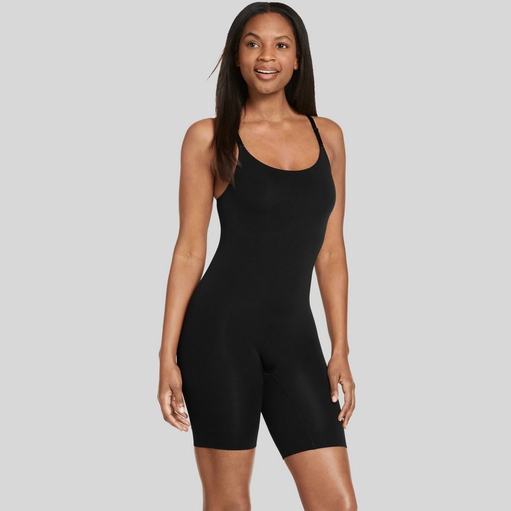 Jockey Generation Women's Body Concealer Long Leg Bodysuit - Black M from Jockey Generation