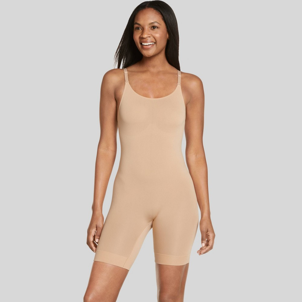 Jockey Generation Women's Body Concealer Long Leg Bodysuit - Nude XXL from Jockey Generation
