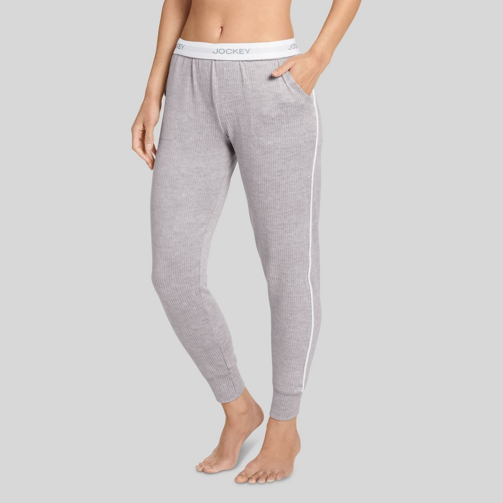 Jockey Generation Women's Retro Vibes Ribbed Jogger Pajama Pants - Gray Heather S from Jockey Generation