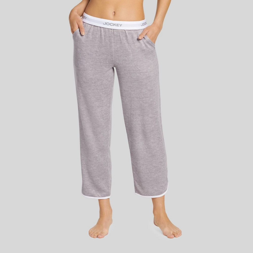 Jockey Generation Women's Retro Vibes Ribbed Pajama Pants - Gray Heather XL from Jockey Generation
