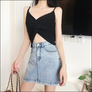 A-line Denim Skirt from Jolly Club