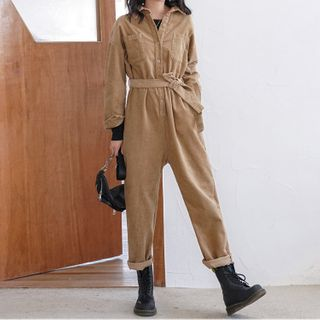 Long-Sleeve Cropped Jumpsuit from Jolly Club